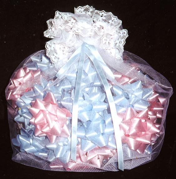 baby shower bow bag